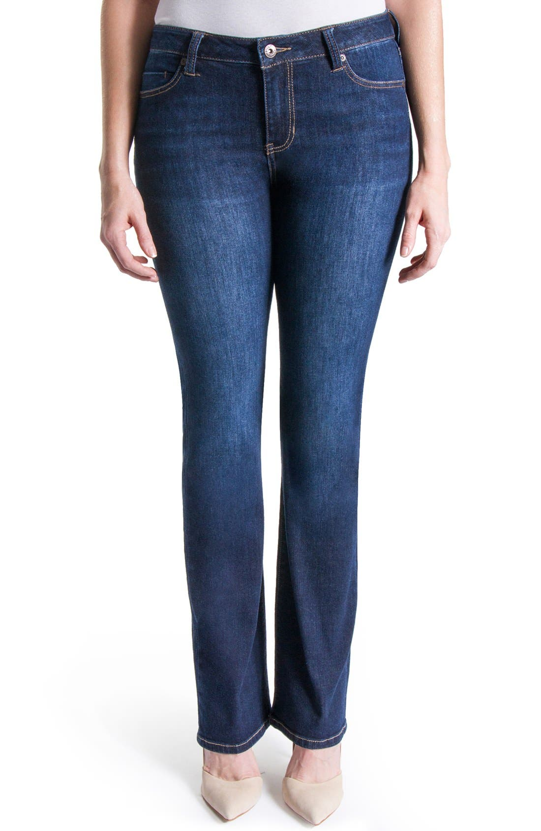 Lucy Stretch Bootcut Jeans,                             Main thumbnail 1, color,                             Vintage Super Dark
