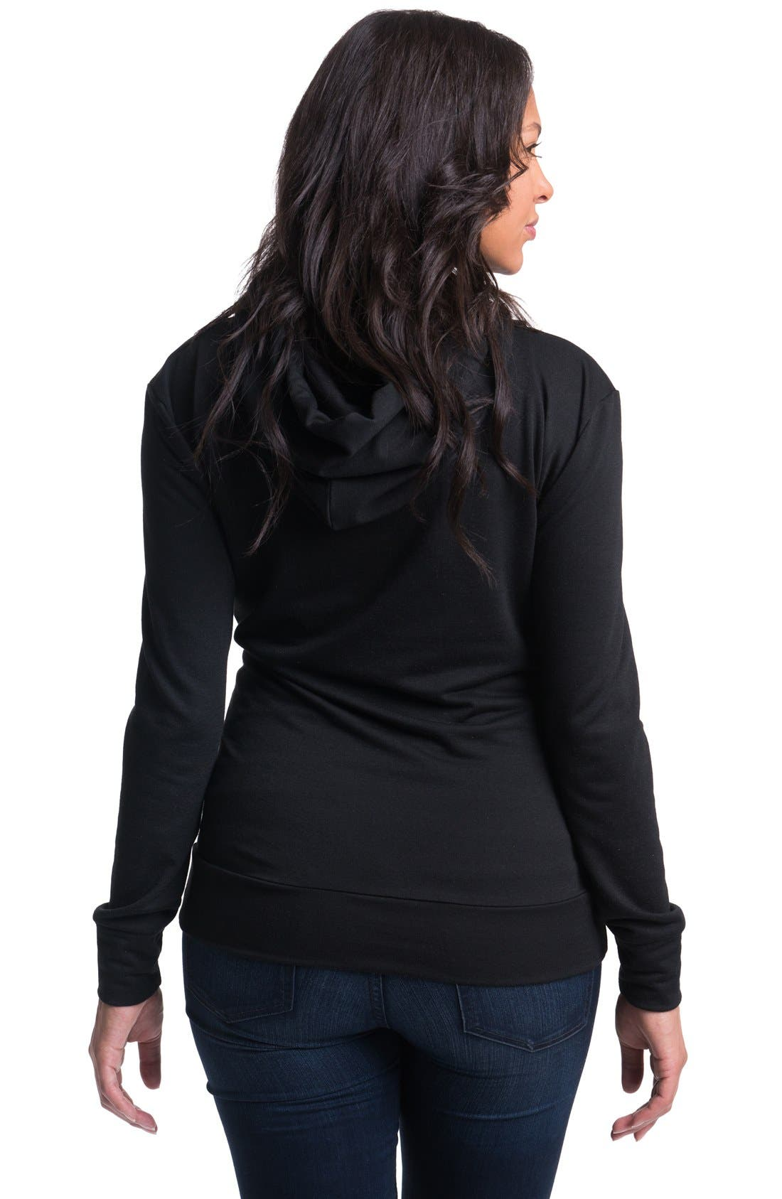 Alternate Image 2  - Bun Maternity 'Cozy' Maternity/Nursing Hoodie