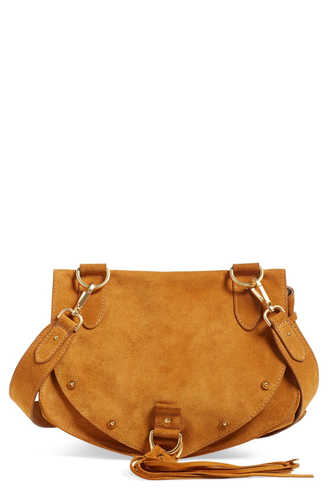 Alternate Image 1 Selected - See by Chloé 'Medium Collins' Leather & Suede Messenger Bag