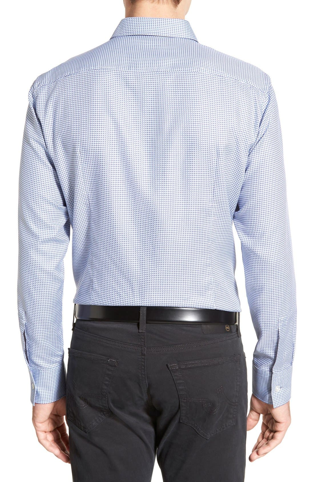 'Robbie' Slim Fit Sport Shirt,                             Alternate thumbnail 2, color,                             Turquoise