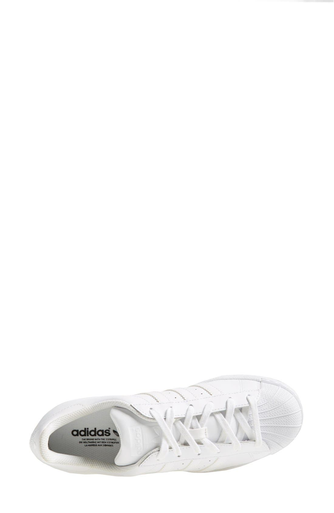 Superstar Sneaker,                             Alternate thumbnail 3, color,                             White