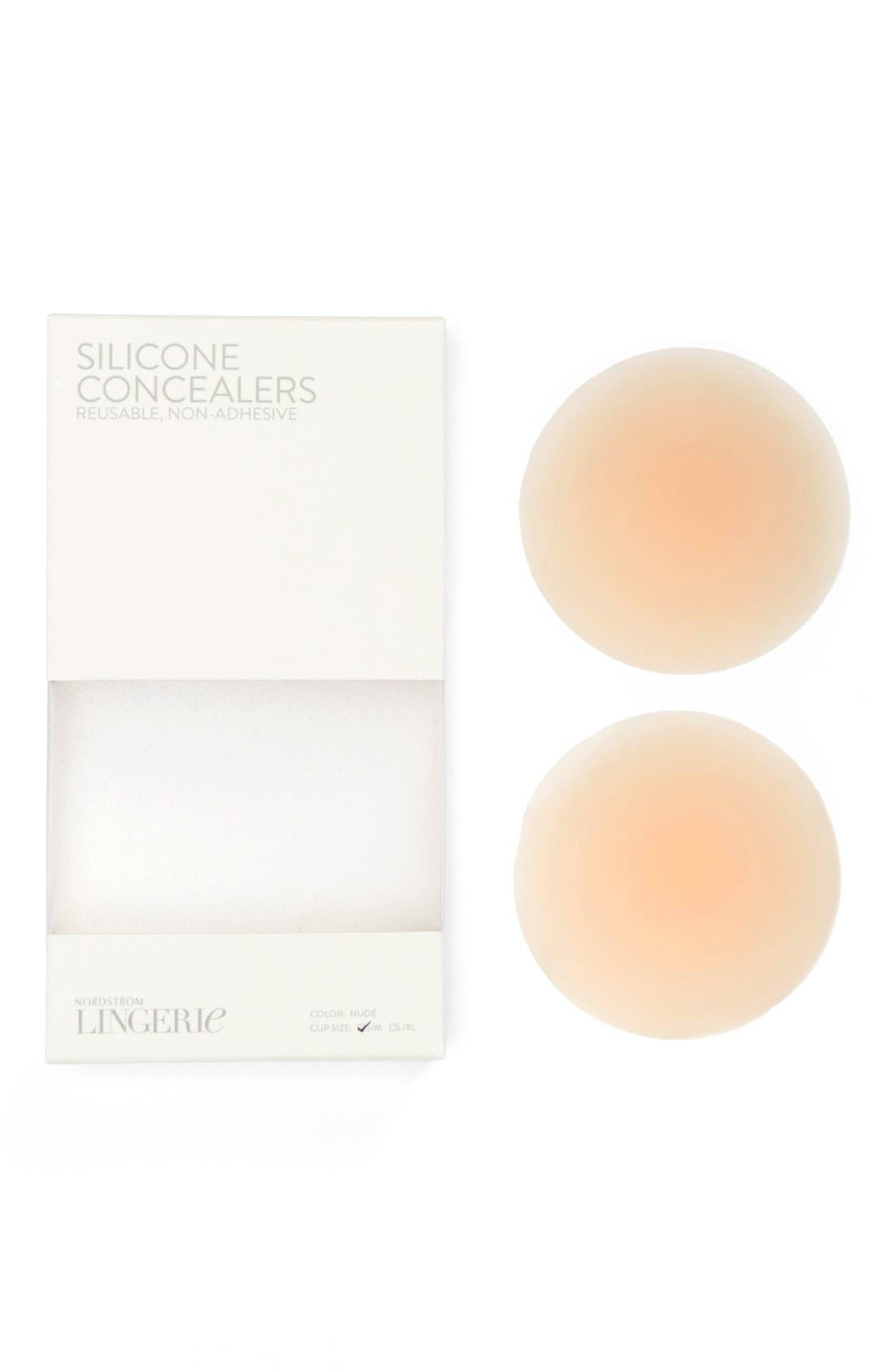 Non-Adhesive Silicone Breast Petals,                         Main,                         color, Nude