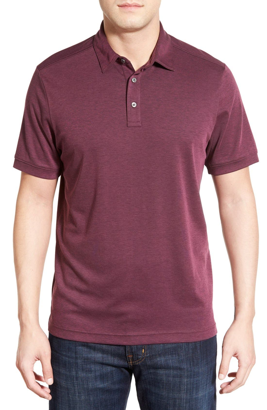 John W. Nordstrom Regular Fit Pima Cotton Blend Polo