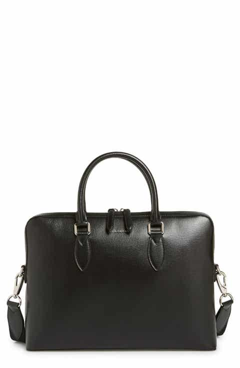 Burberry New London Calfskin Leather Briefcase