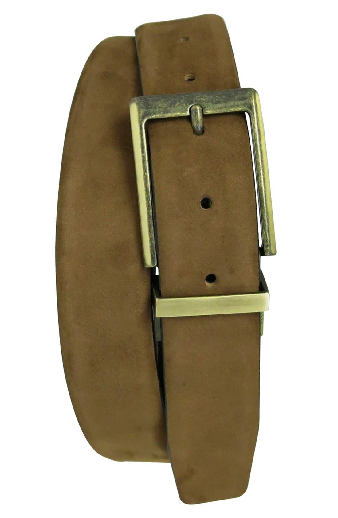 'Leon' Reversible Belt,                         Main,                         color, Tan/ Brown