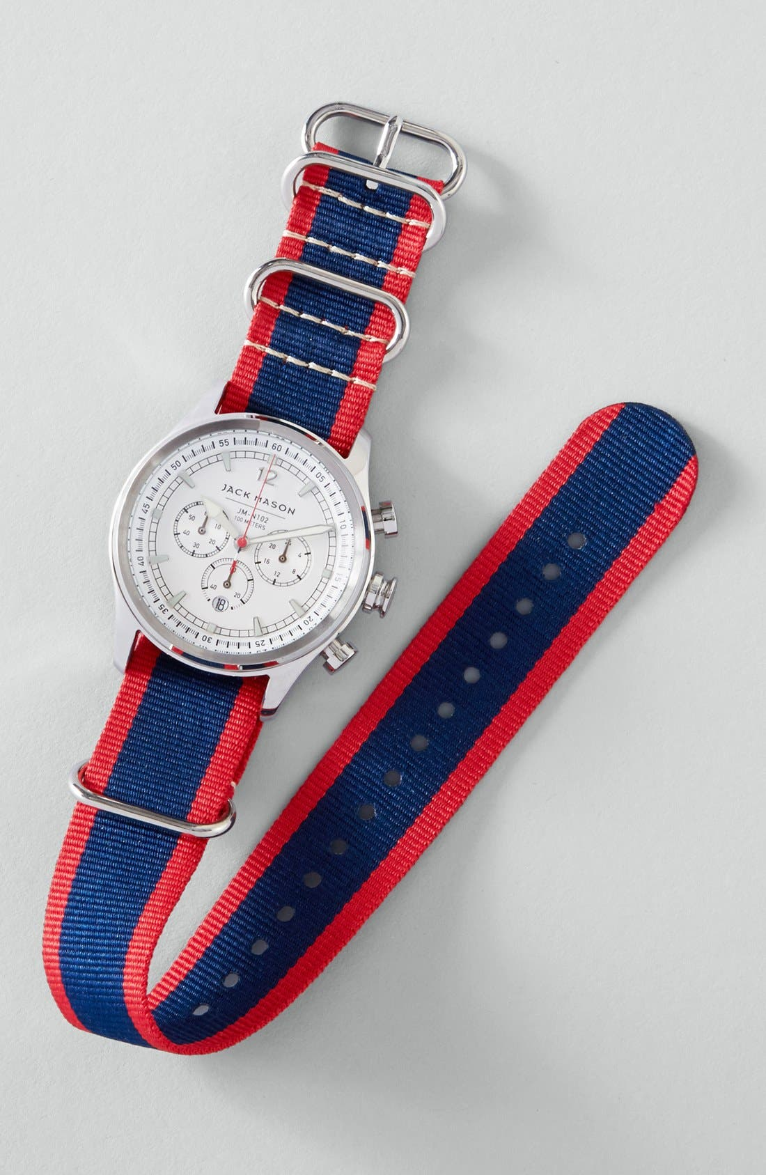 Alternate Image 4  - Jack Mason Nautical Chronograph NATO Strap Watch, 42mm