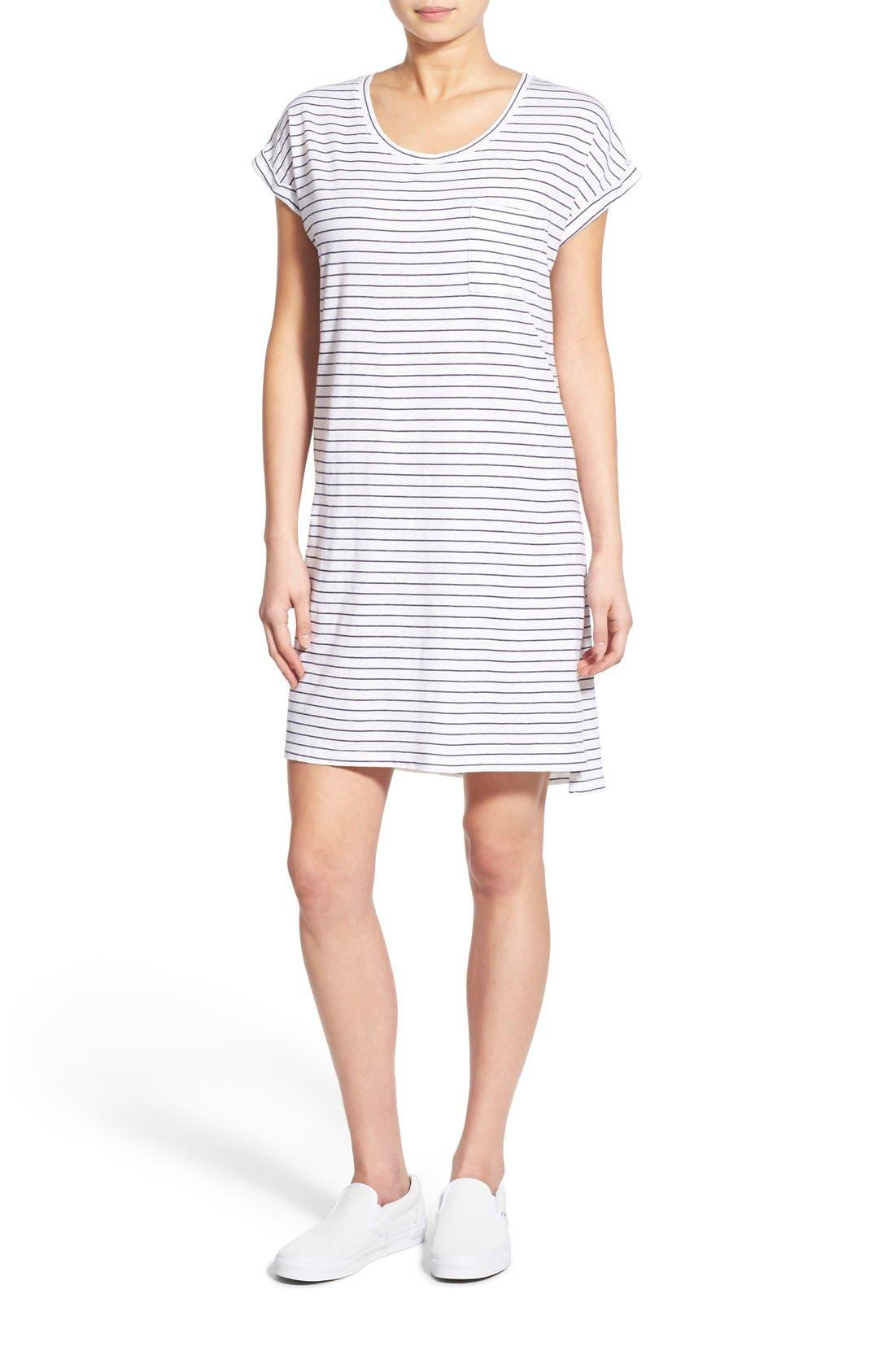 Main Image - Sundry Stripe Short Sleeve Shift Dress