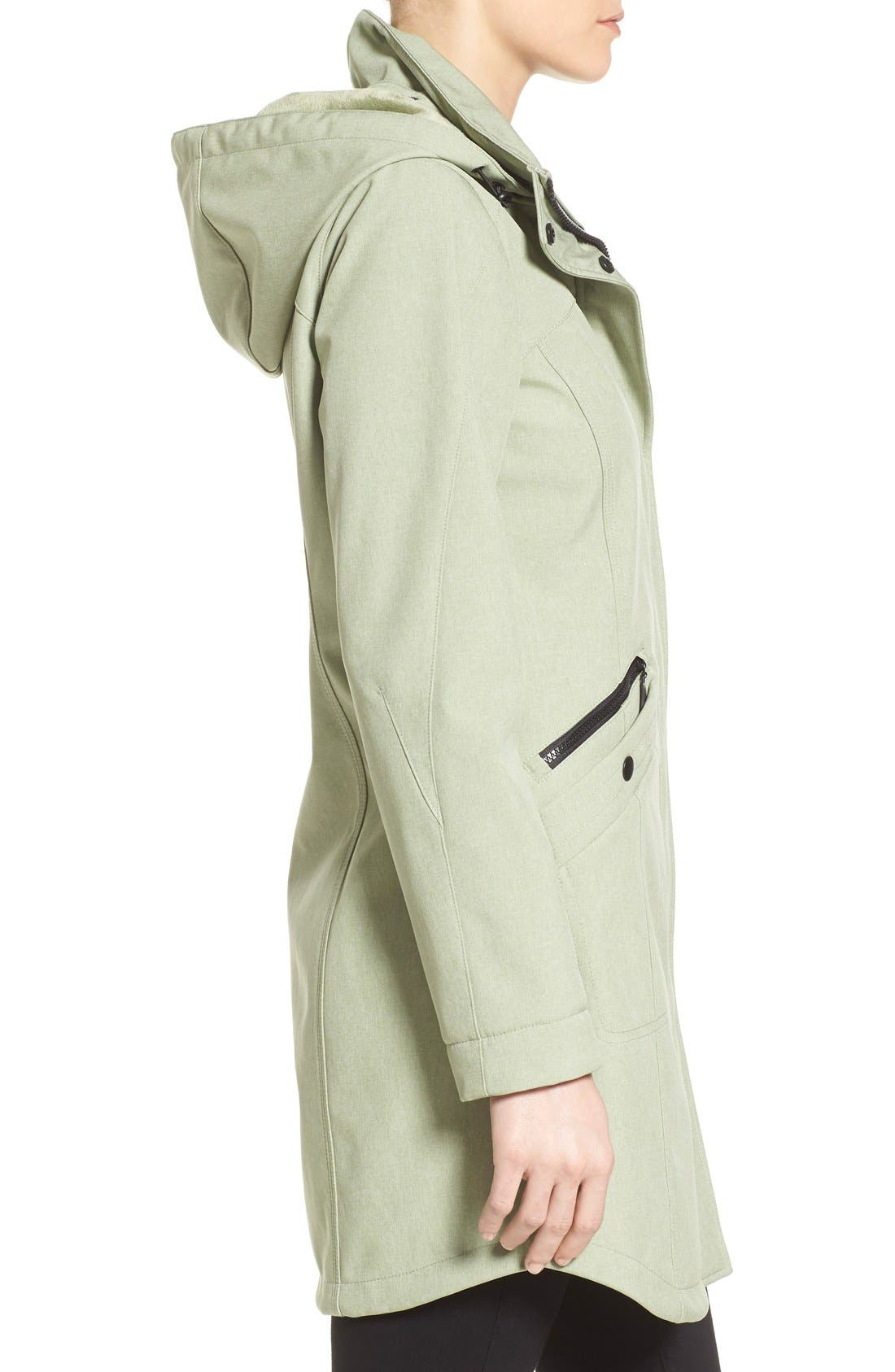 Alternate Image 3  - Kristen Blake Crossdye Hooded Soft Shell Jacket (Regular & Petite)