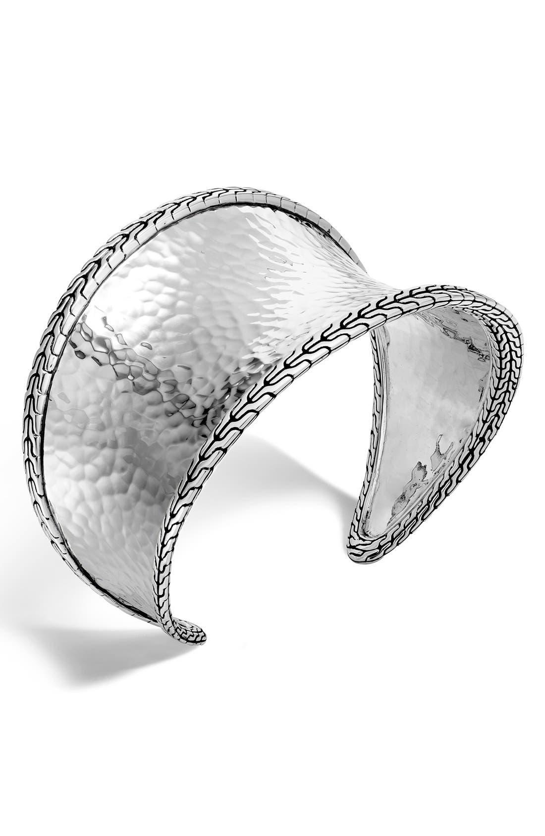 'Classic Chain' Small Cuff,                             Main thumbnail 1, color,                             Silver