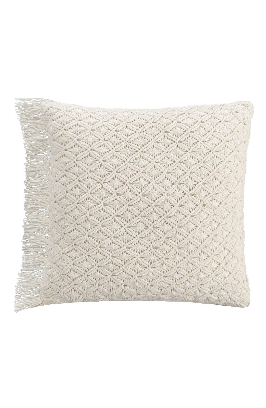 cupcakes and cashmere 'Lace Medallion' Crochet Pillow