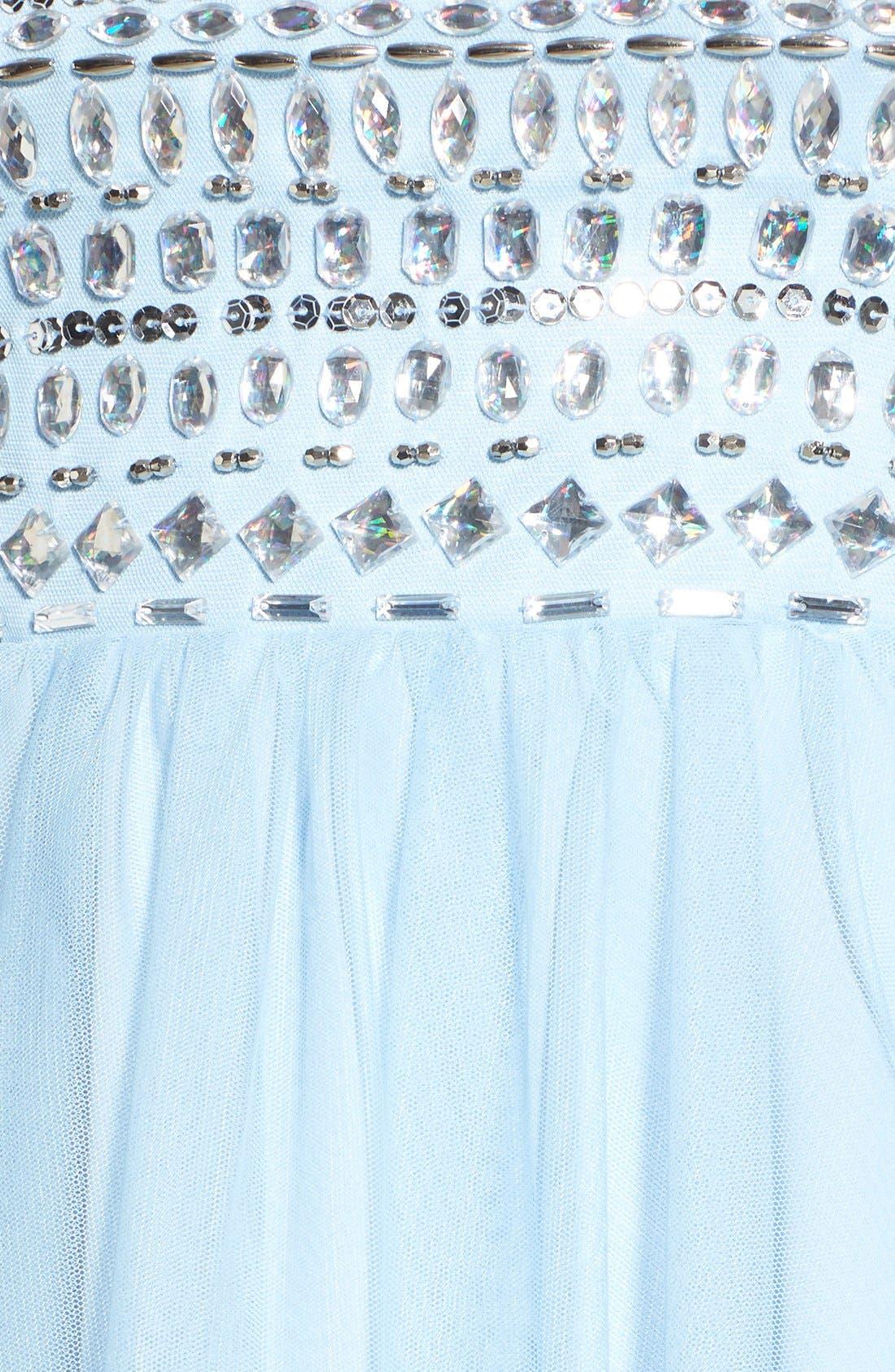 Alternate Image 5  - Sequin Hearts Rhinestone Bodice Strapless Dress