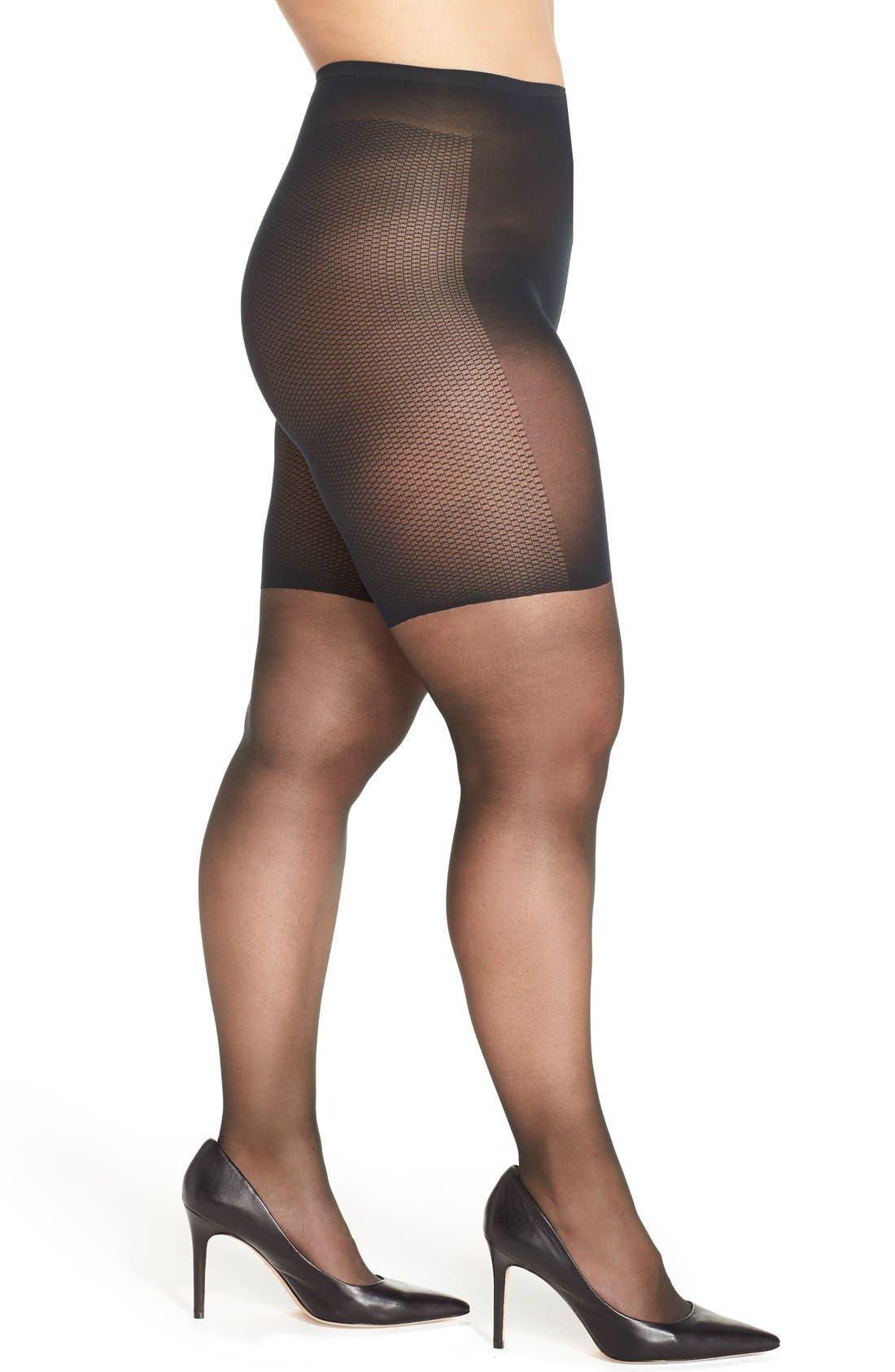 Light Control Top Pantyhose,                         Main,                         color, Fantasy Black