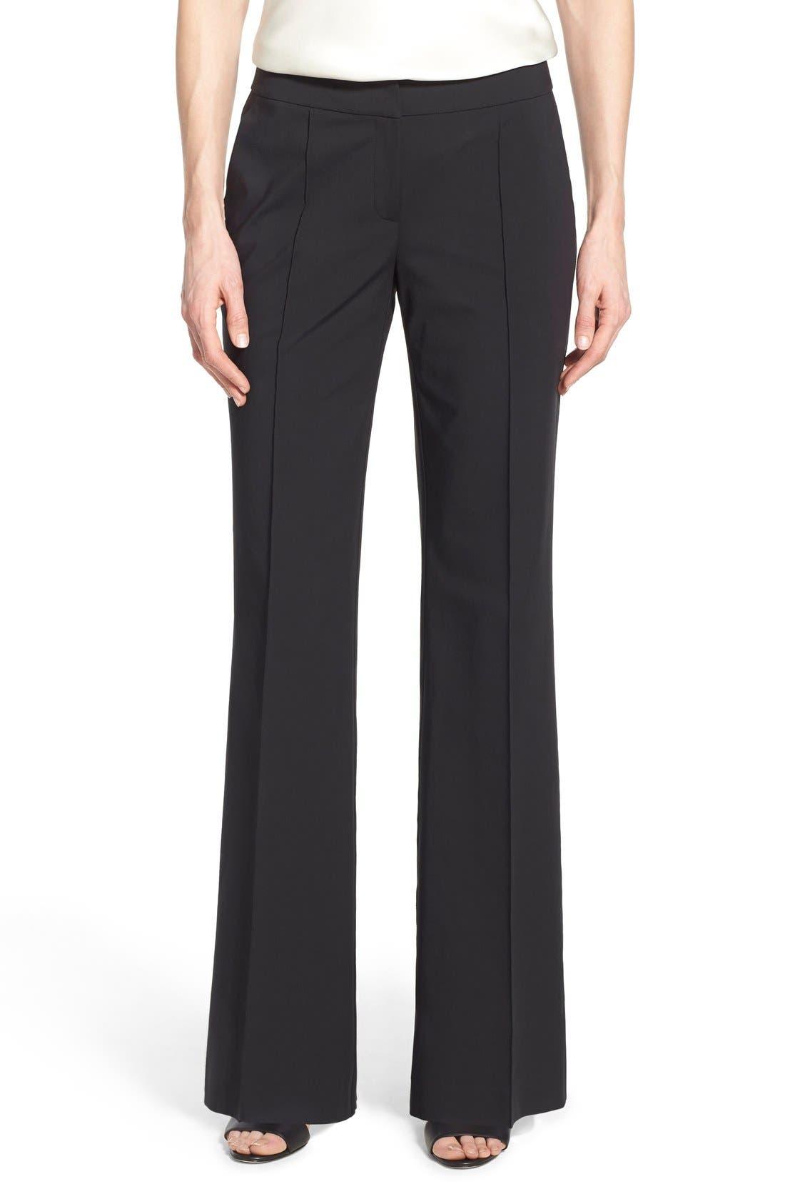 'Kenmare' Flare Leg Pants,                         Main,                         color, Black