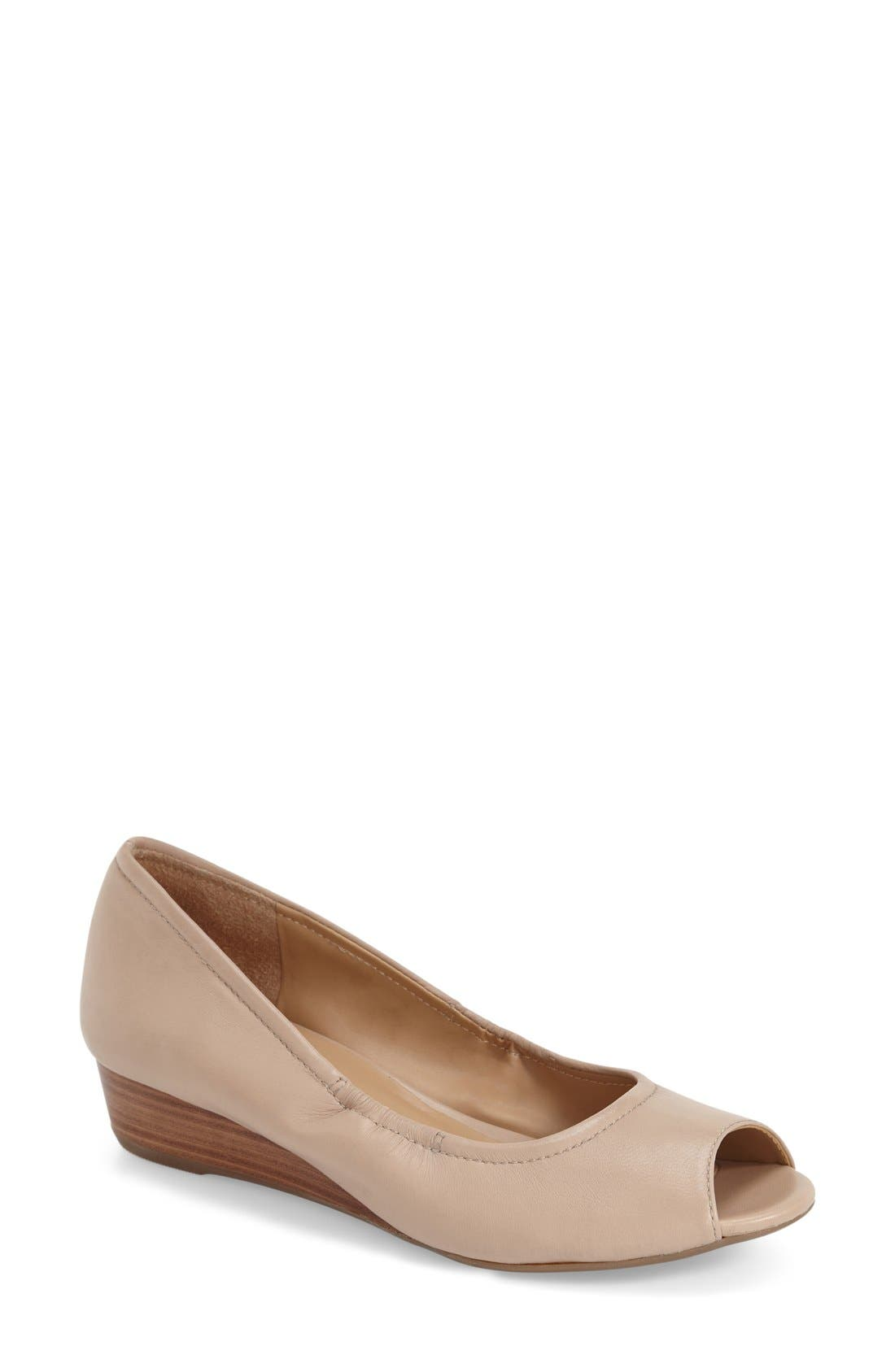 Naturalizer 'Contrast' Peep Toe Wedge