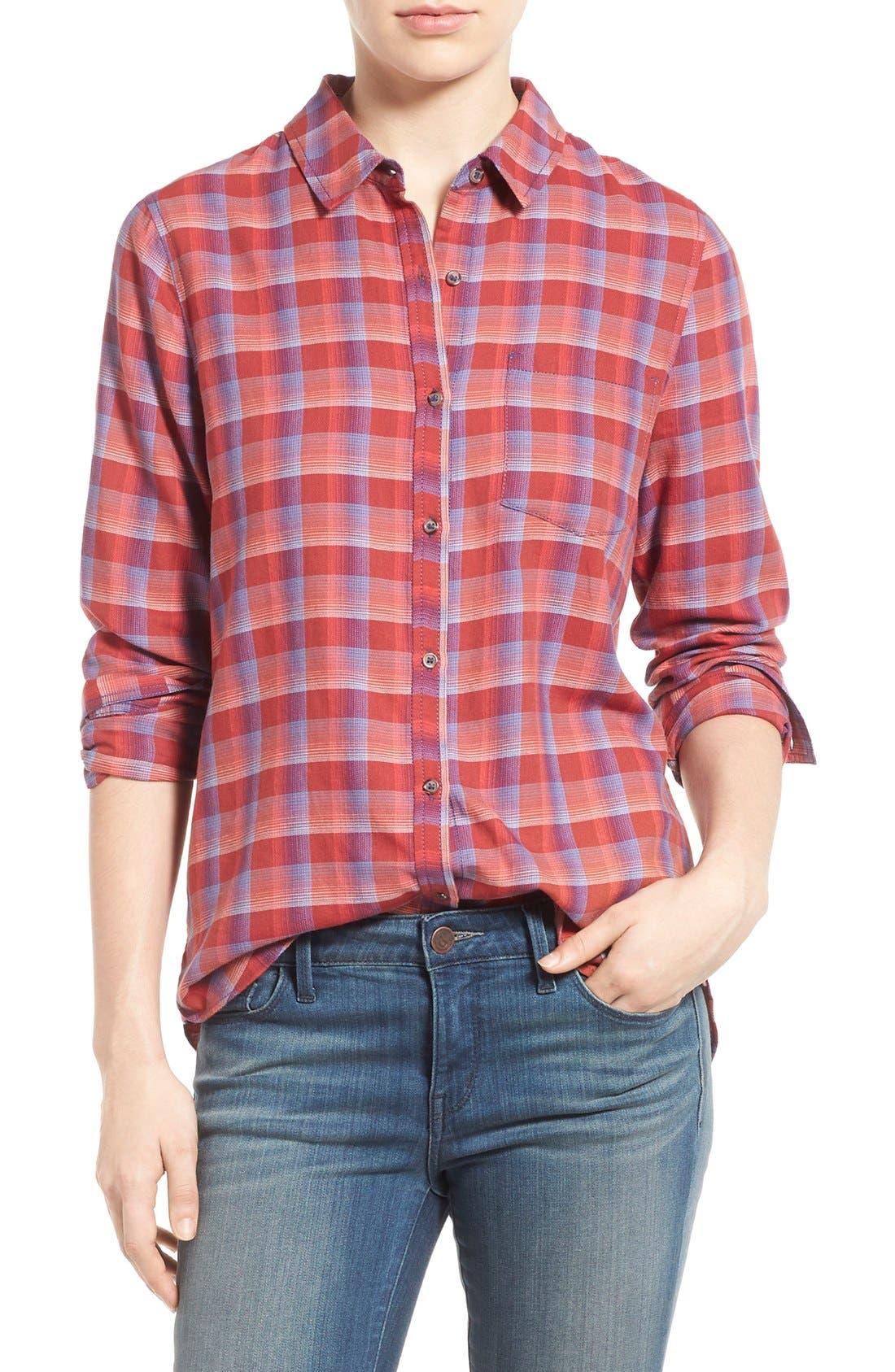 Main Image - Treasure&Bond Cotton Plaid Shirt