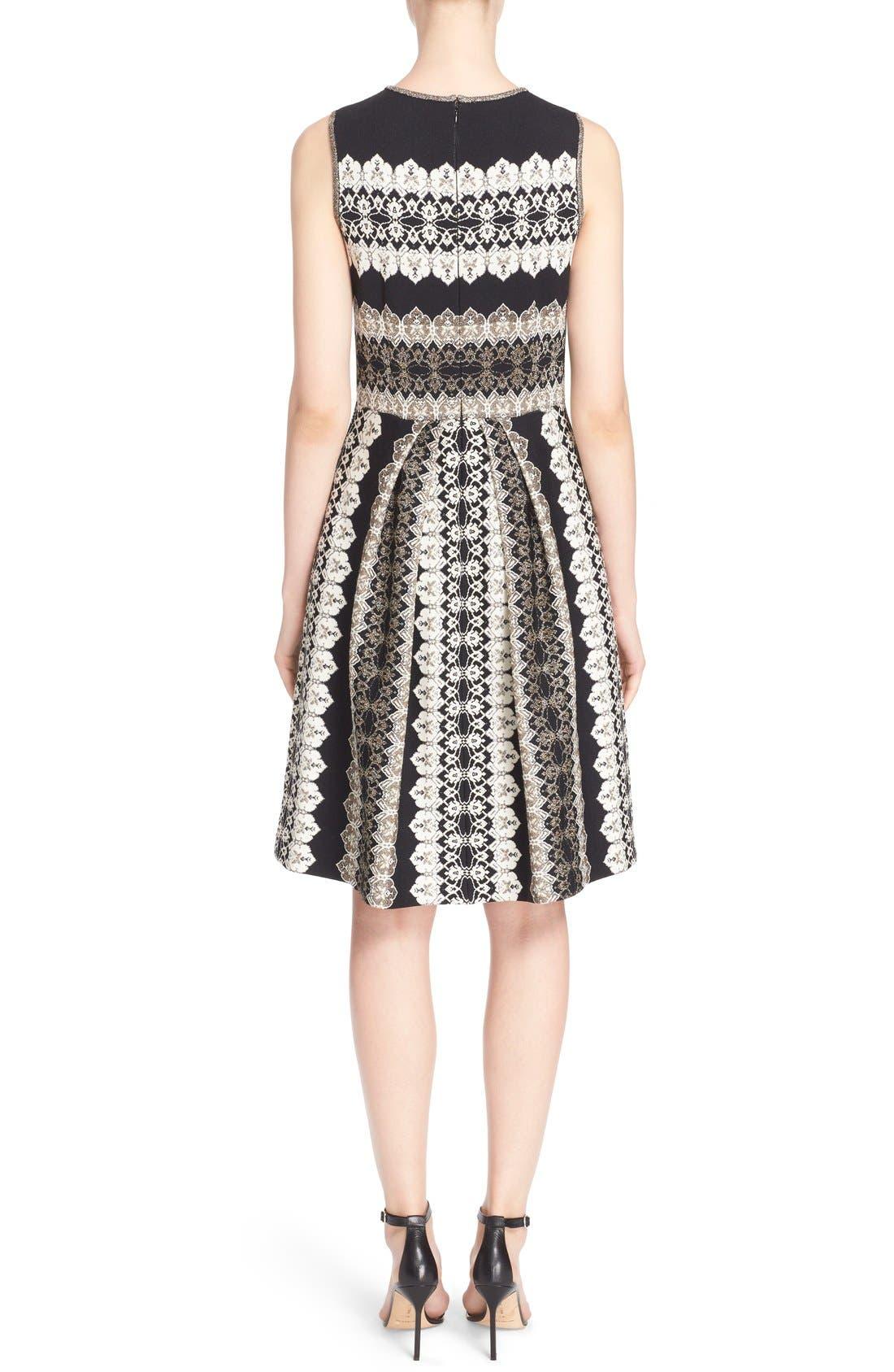 Alternate Image 2  - St. John Collection Jeweled Shimmer Knit Dress