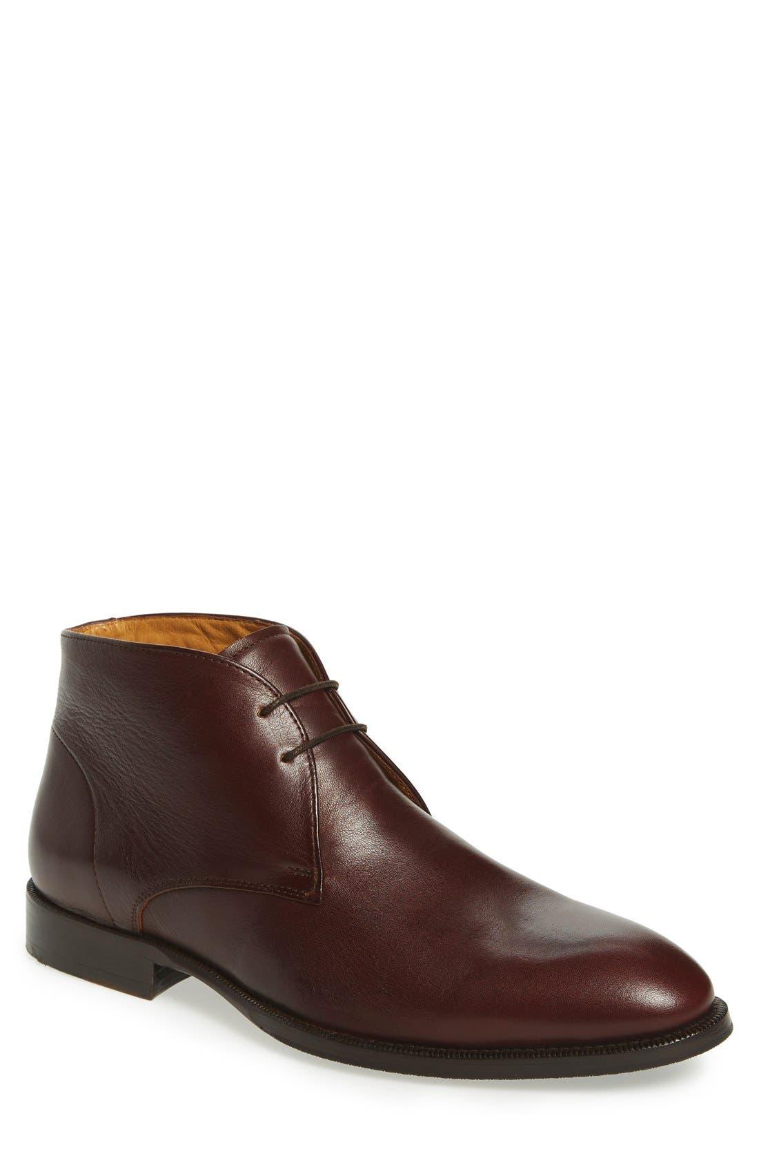 'Branx' Chukka Boot,                         Main,                         color, Dark Brown Leather