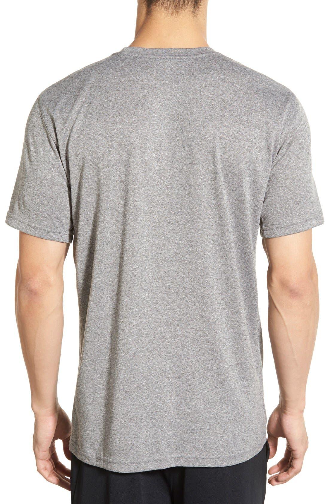 'Legend 2.0' Dri-FIT Training T-Shirt,                             Alternate thumbnail 2, color,                             Carbon Heather/ Black