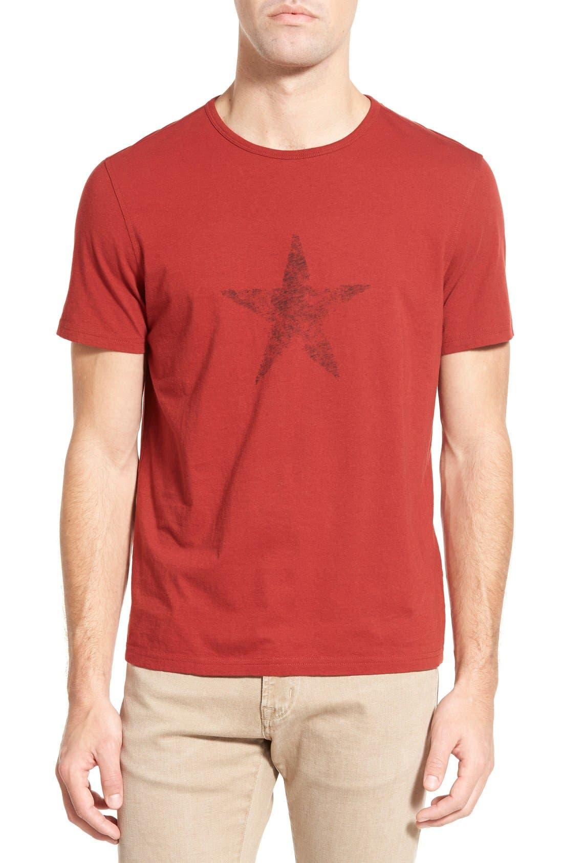 Alternate Image 1 Selected - John Varvatos Star USA 'Faded Star' Graphic Crewneck T-Shirt
