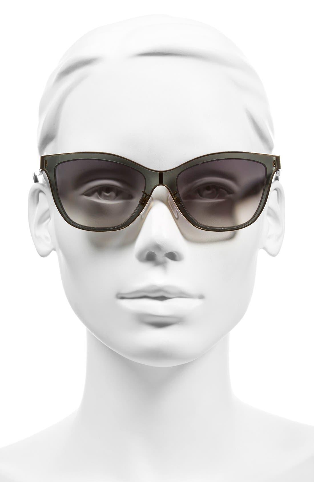 Paris 54mm Sunglasses,                             Alternate thumbnail 2, color,                             Rose Gold/ Black/ Smoke
