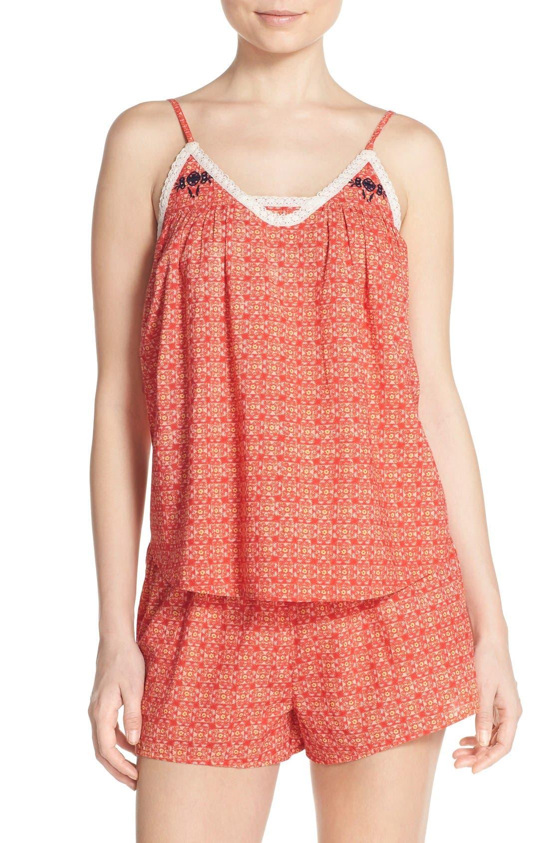 Alternate Image 1 Selected - Lucky Brand Print Short Pajamas