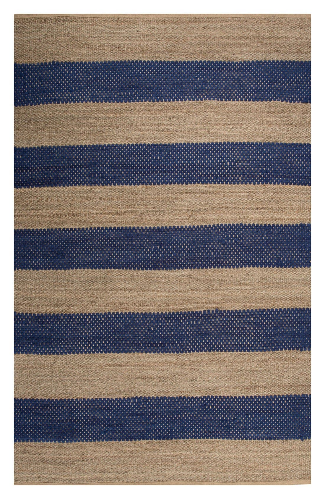 'nolita stripes' rug,                             Main thumbnail 1, color,                             Blue/ Natural
