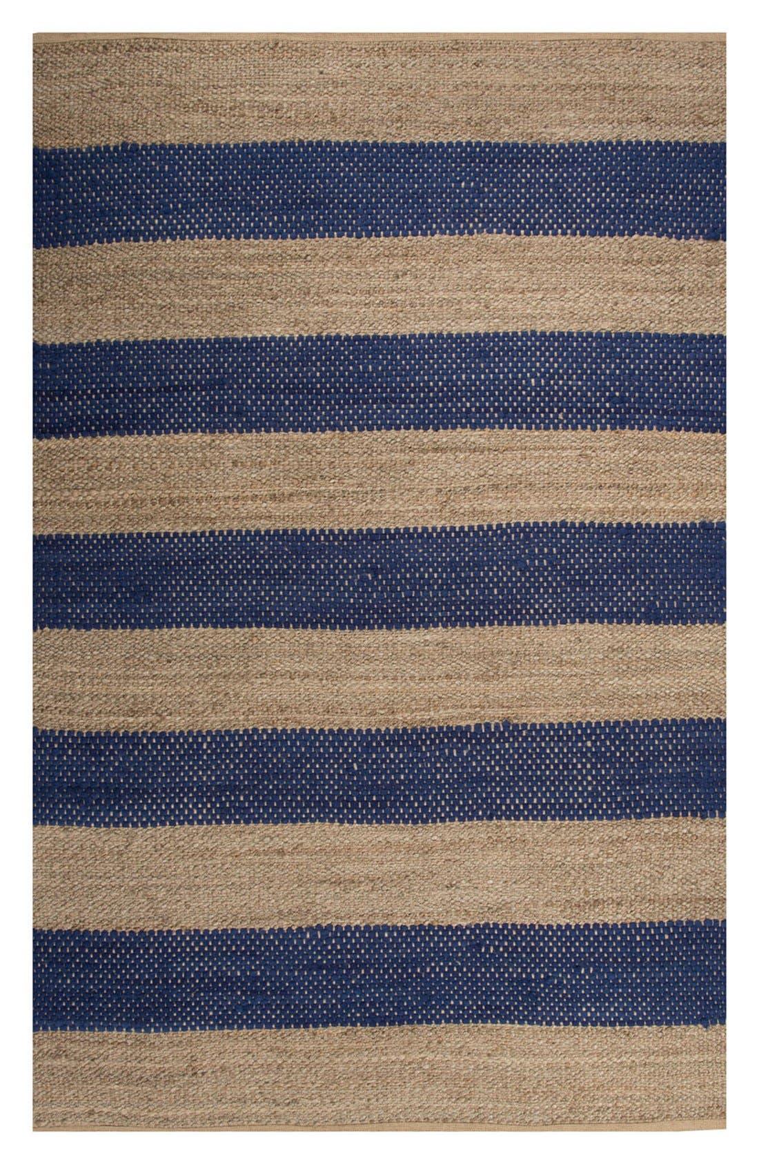 'nolita stripes' rug,                         Main,                         color, Blue/ Natural
