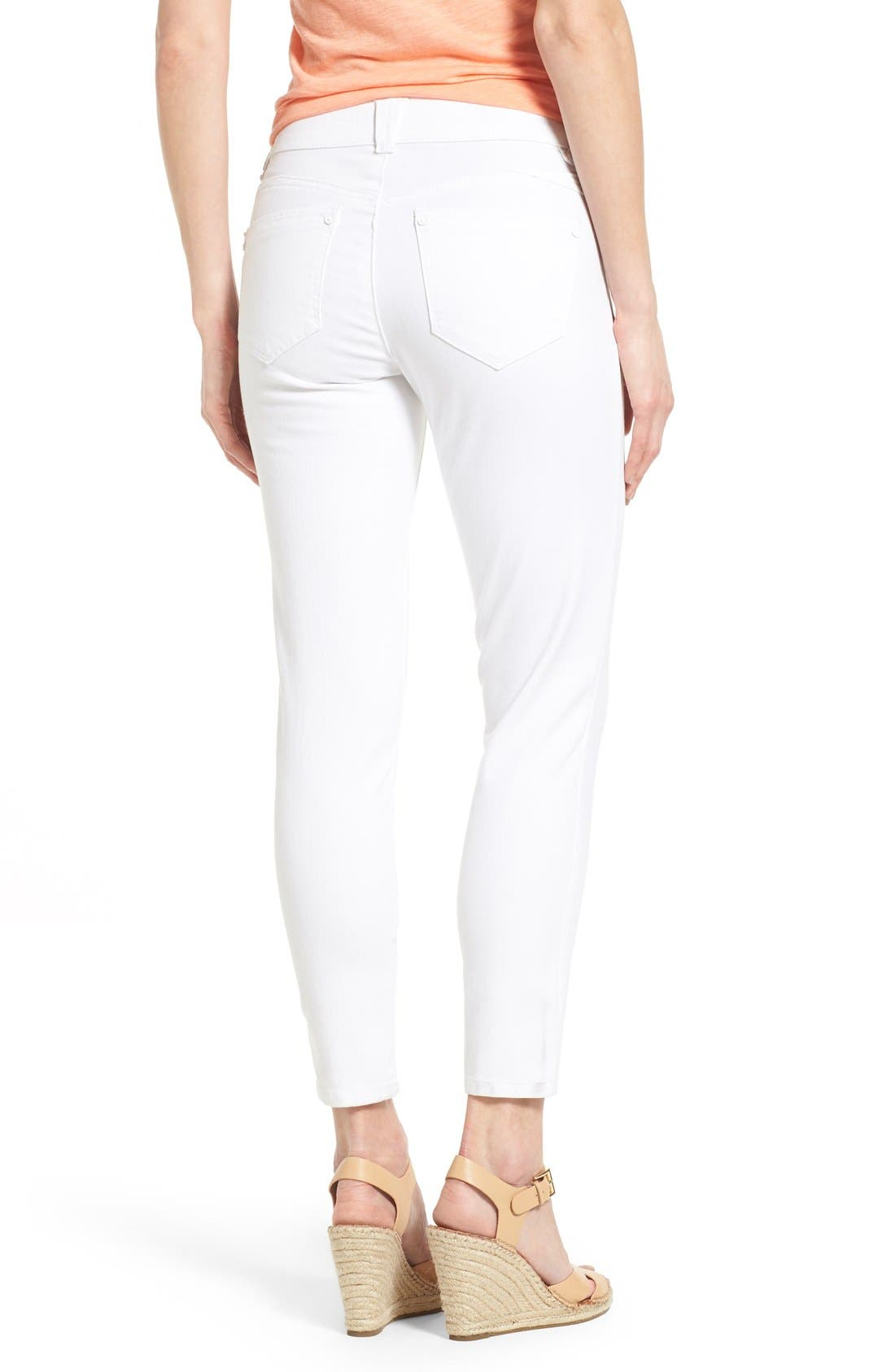 Alternate Image 3  - Wit & Wisdom Ab-solution Stretch Ankle Skinny Jeans (Optic White) (Nordstrom Exclusive)