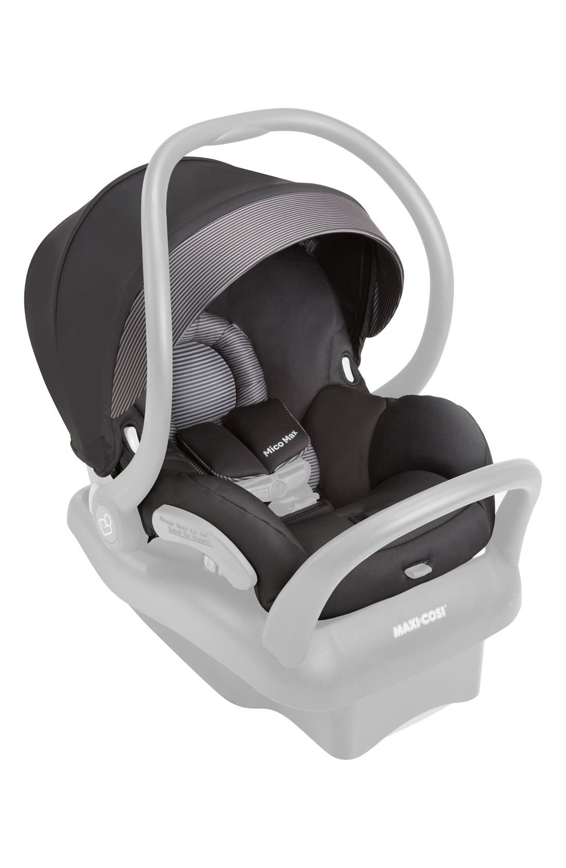 Seat Pad Fashion Kit for Mico Max 30 Car Seat,                             Main thumbnail 1, color,                             Devoted Black