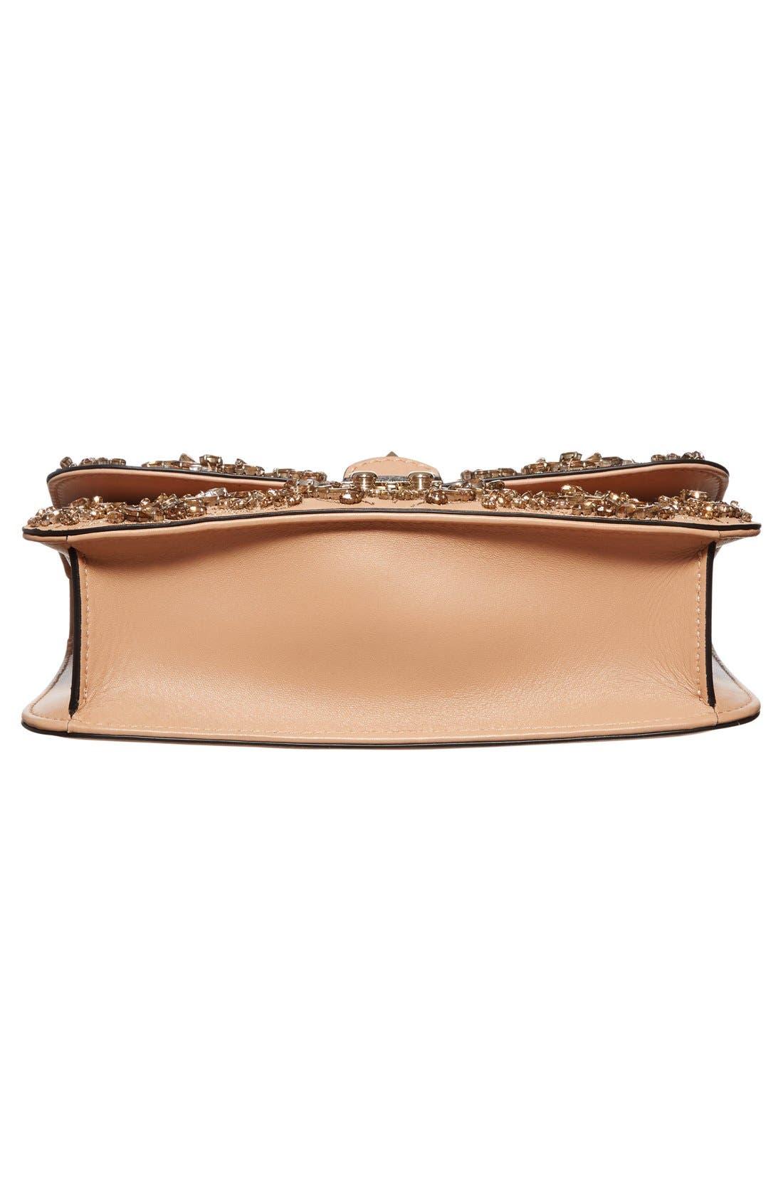 Alternate Image 6  - Valentino 'Rockstud Embellished - Medium Lock' Leather Shoulder Bag