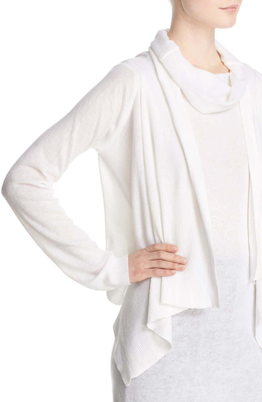 Alternate Image 6  - Rick Owens Drape Front Cotton & Cashmere Cardigan