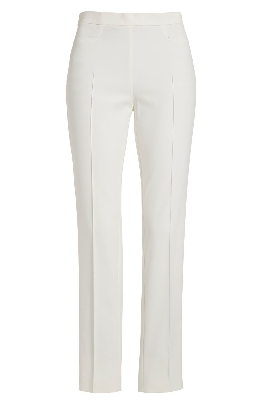 Alternate Image 4  - Akris punto 'Franca' Techno Cotton Blend Ankle Pants