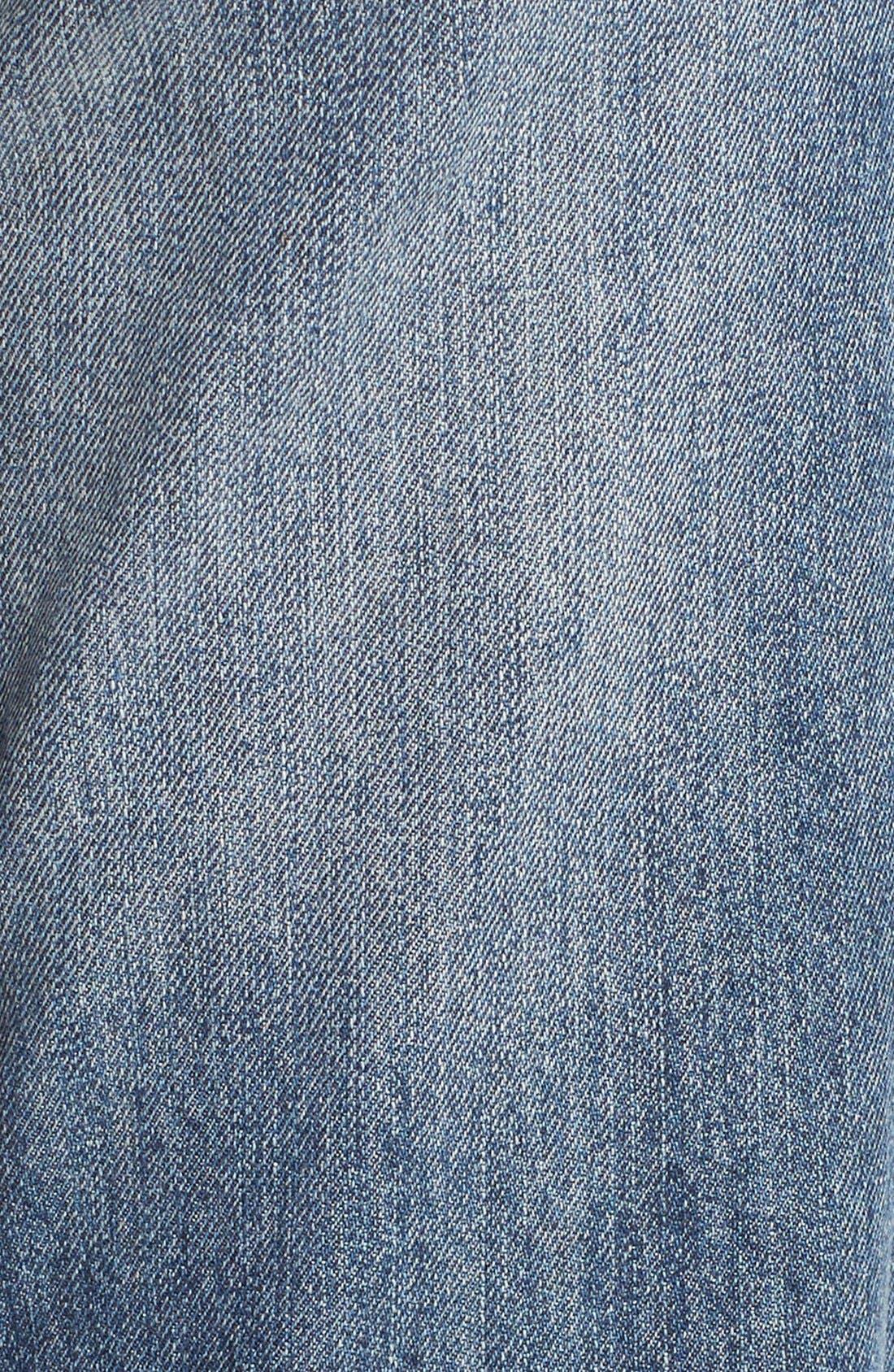Alternate Image 5  - Generra Distressed Slim Boyfriend Jeans (Carren)