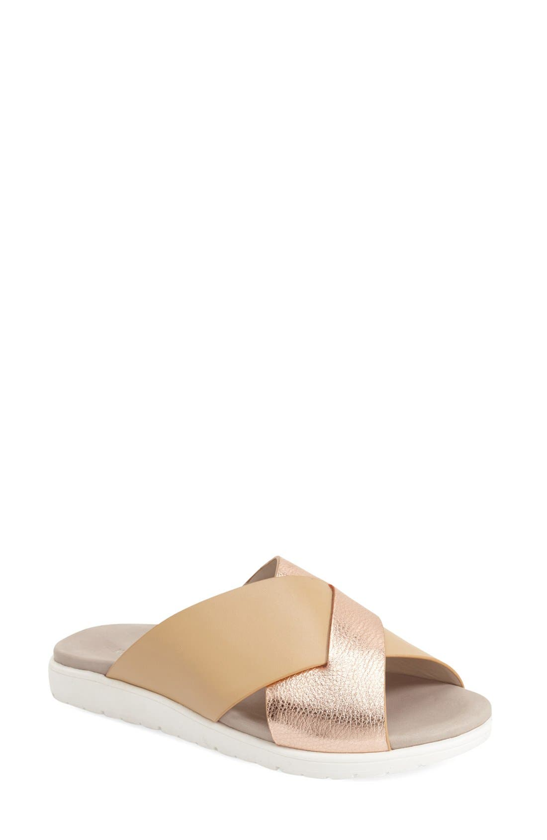 'Maxwell' Sandal,                             Main thumbnail 1, color,                             Rose Gold/ Nude Leather