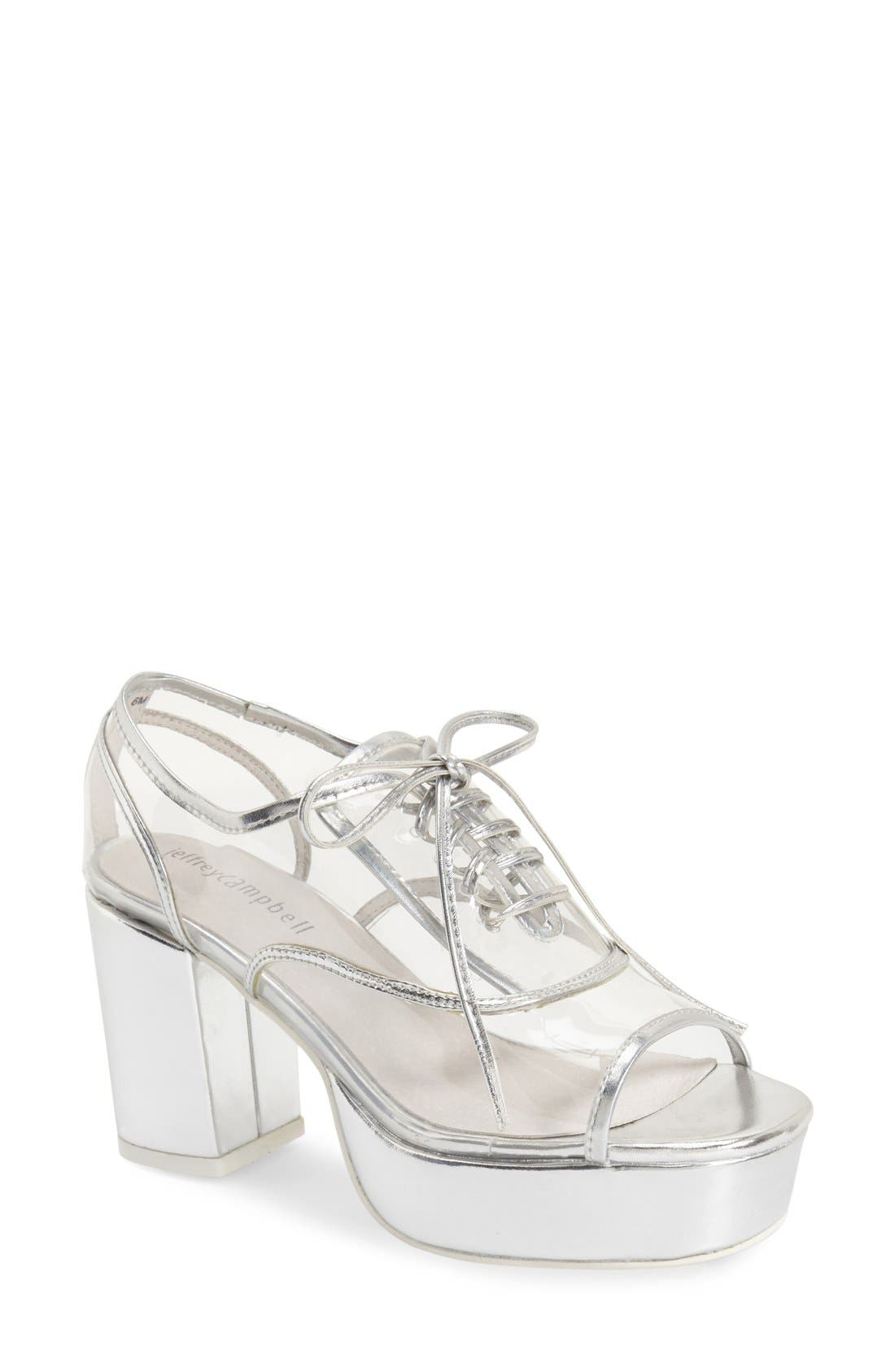Alternate Image 1 Selected - Jeffrey Campbell 'Nearly' Platform Oxford (Women)