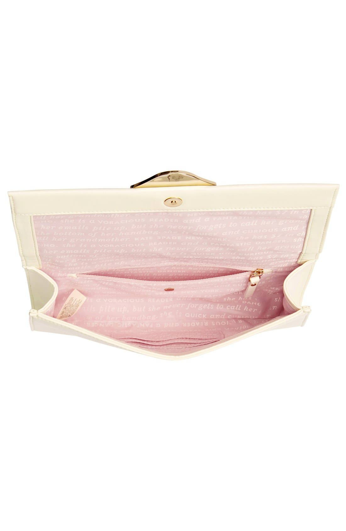 Alternate Image 4  - kate spade new york leather clutch