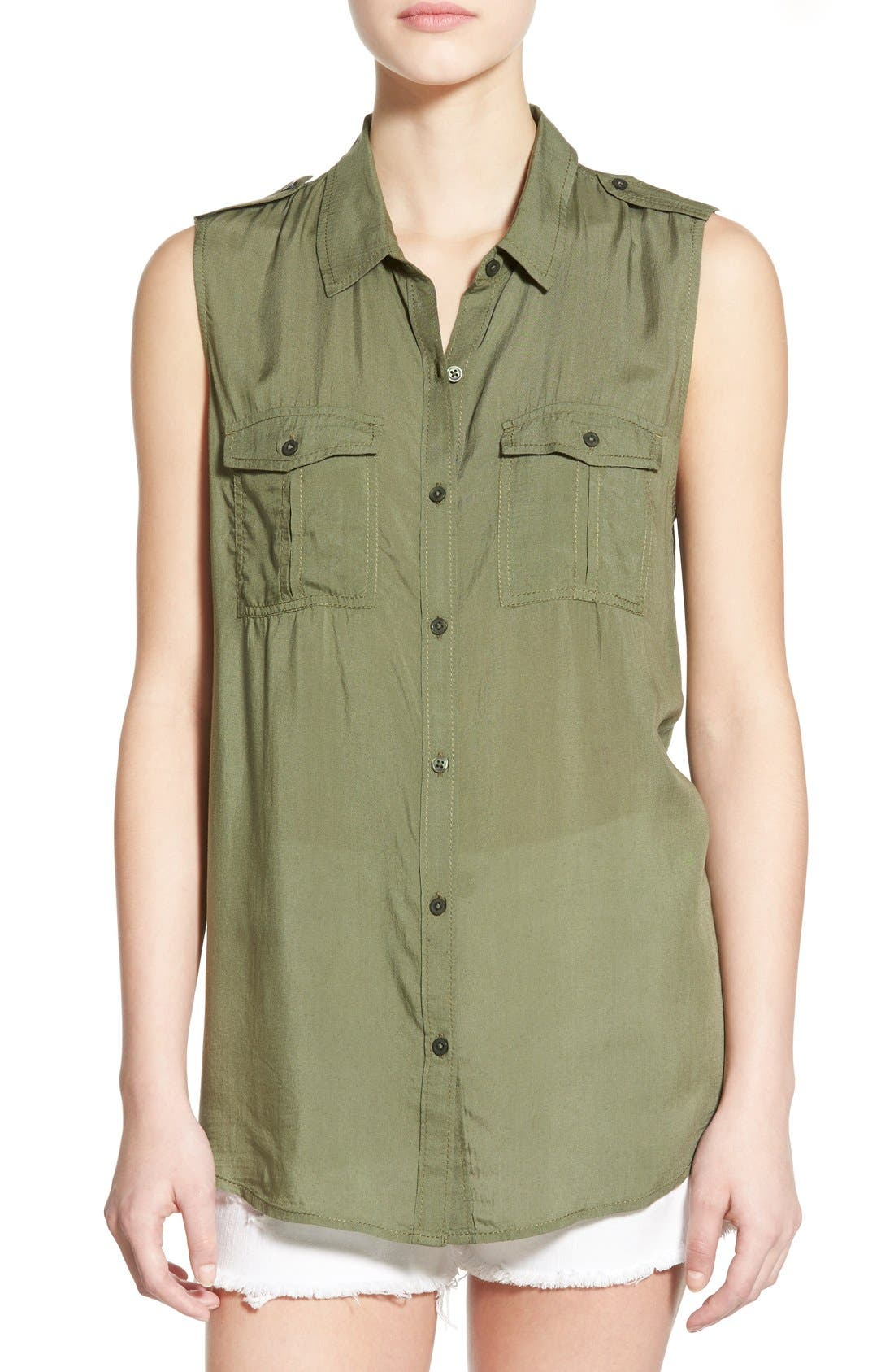 Alternate Image 1 Selected - BP. Sleeveless Safari Shirt