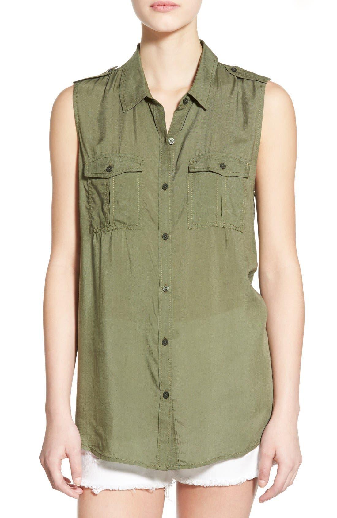 Main Image - BP. Sleeveless Safari Shirt