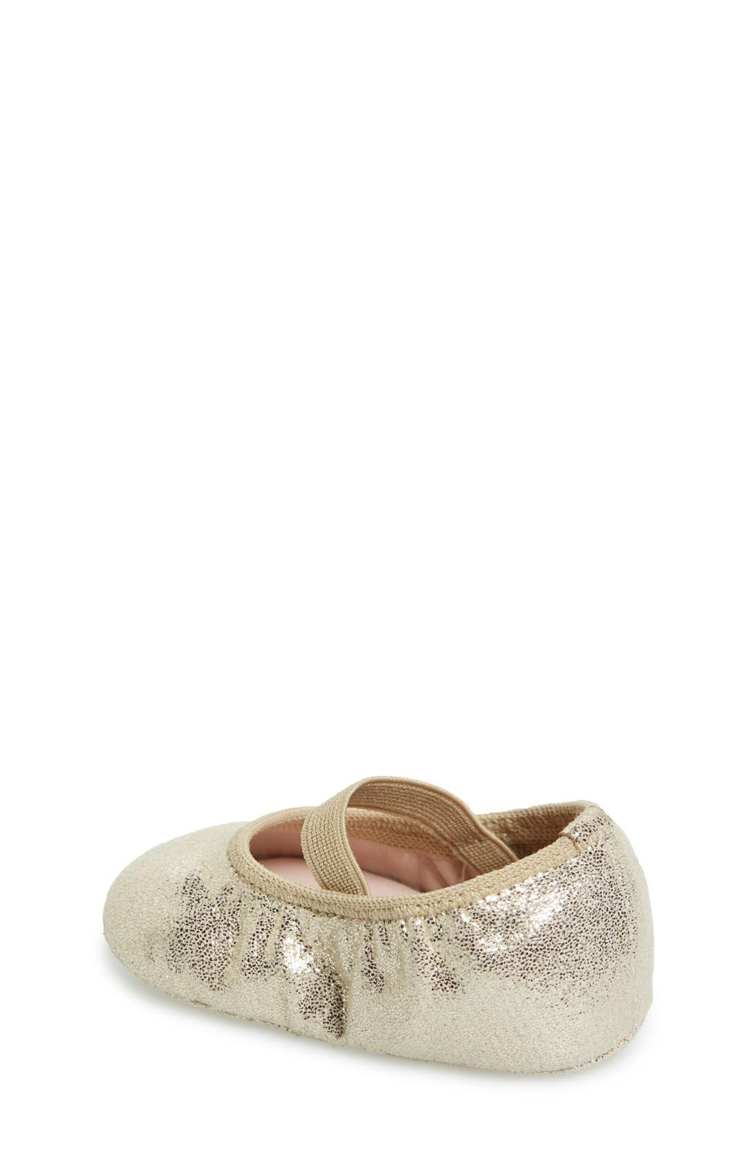 'Josie' Crib Shoe,                             Alternate thumbnail 2, color,                             Gold