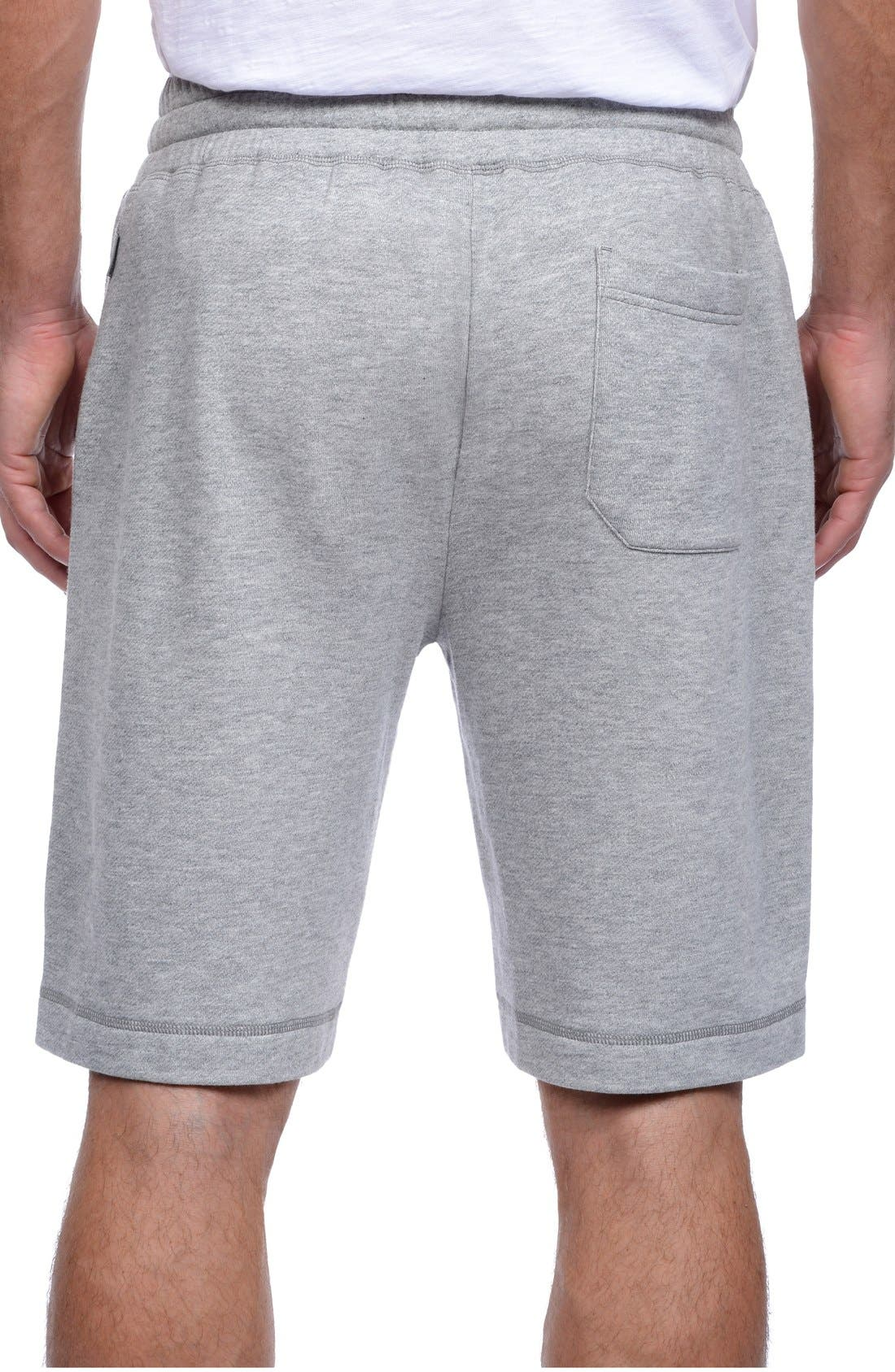 Terry Shorts,                             Alternate thumbnail 2, color,                             Light Grey Heather