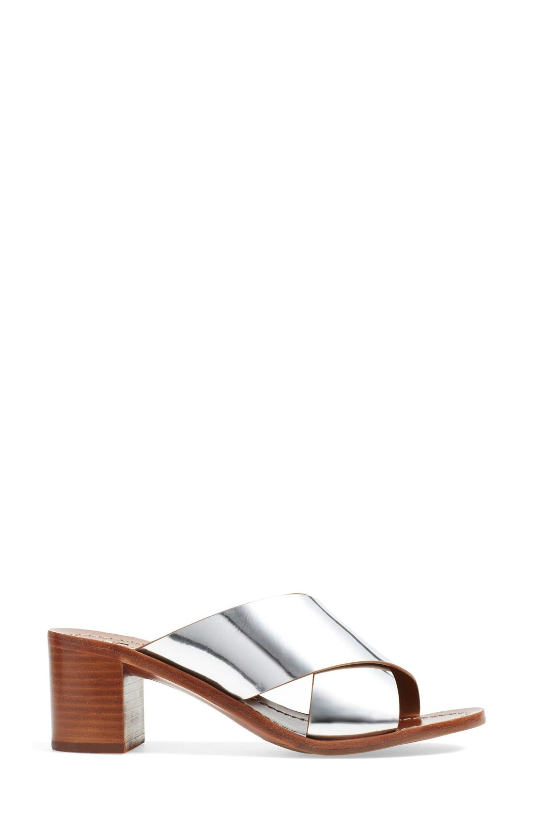 'Montrose' Sandal,                             Alternate thumbnail 4, color,                             Silver Dress Mirror