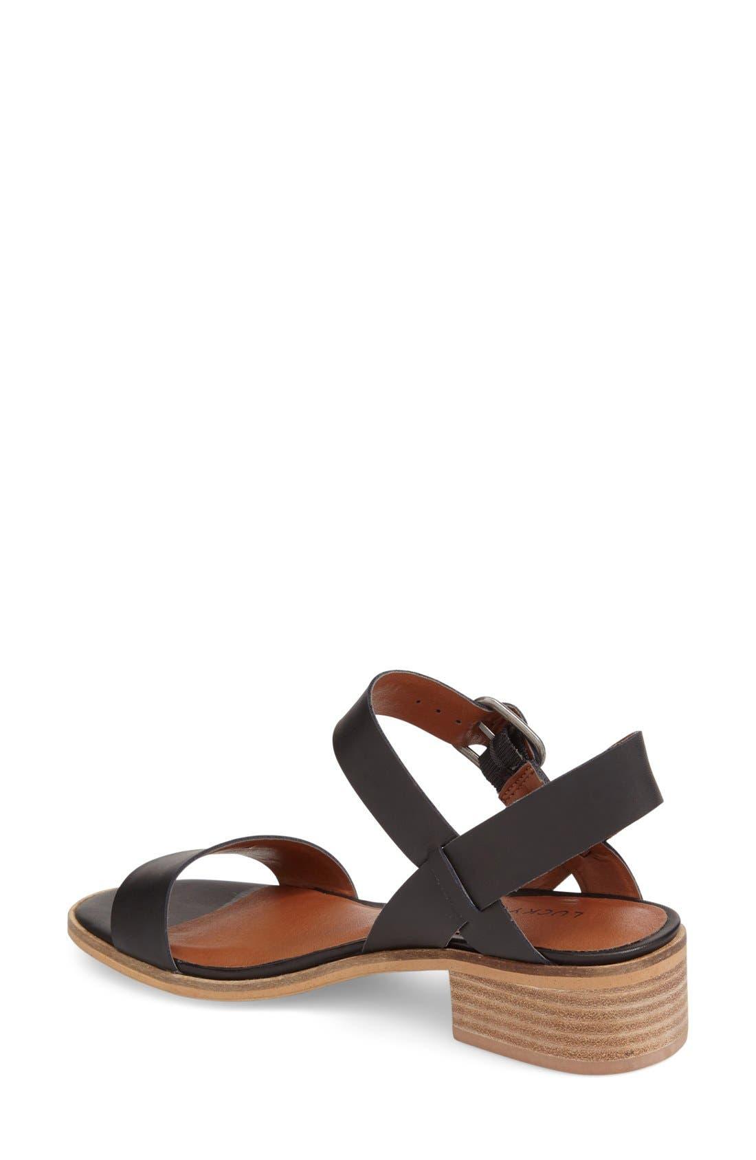 Alternate Image 2  - Lucky Brand 'Toni' Stacked Heel Sandal (Women)