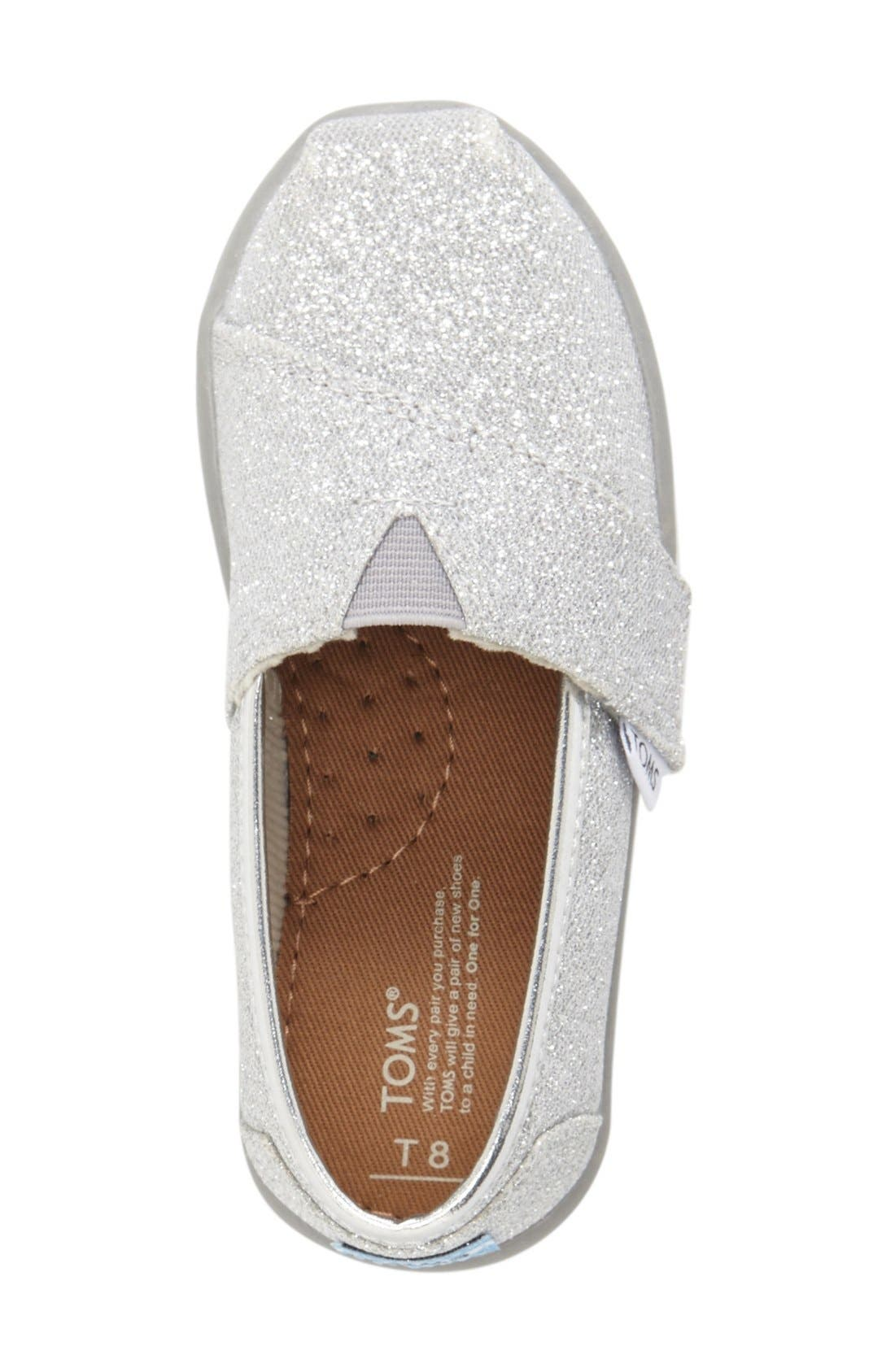 Alternate Image 3  - TOMS 'Classic Tiny - Glimmer' Slip-On (Baby, Walker & Toddler)
