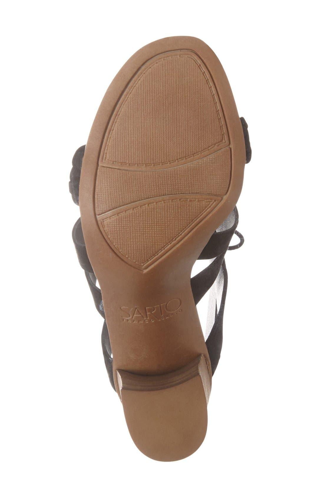 'Sierra' Block Heel Sandal,                             Alternate thumbnail 2, color,                             Black Kid Suede