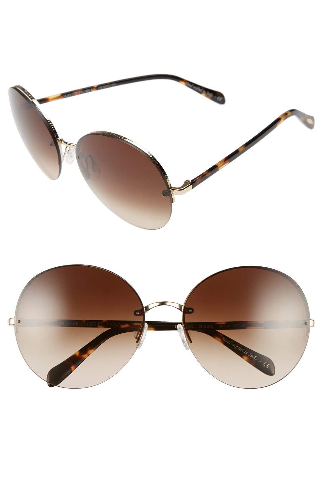 Alternate Image 1 Selected - Oliver Peoples Jorie 62mm Semi Rimless Sunglasses