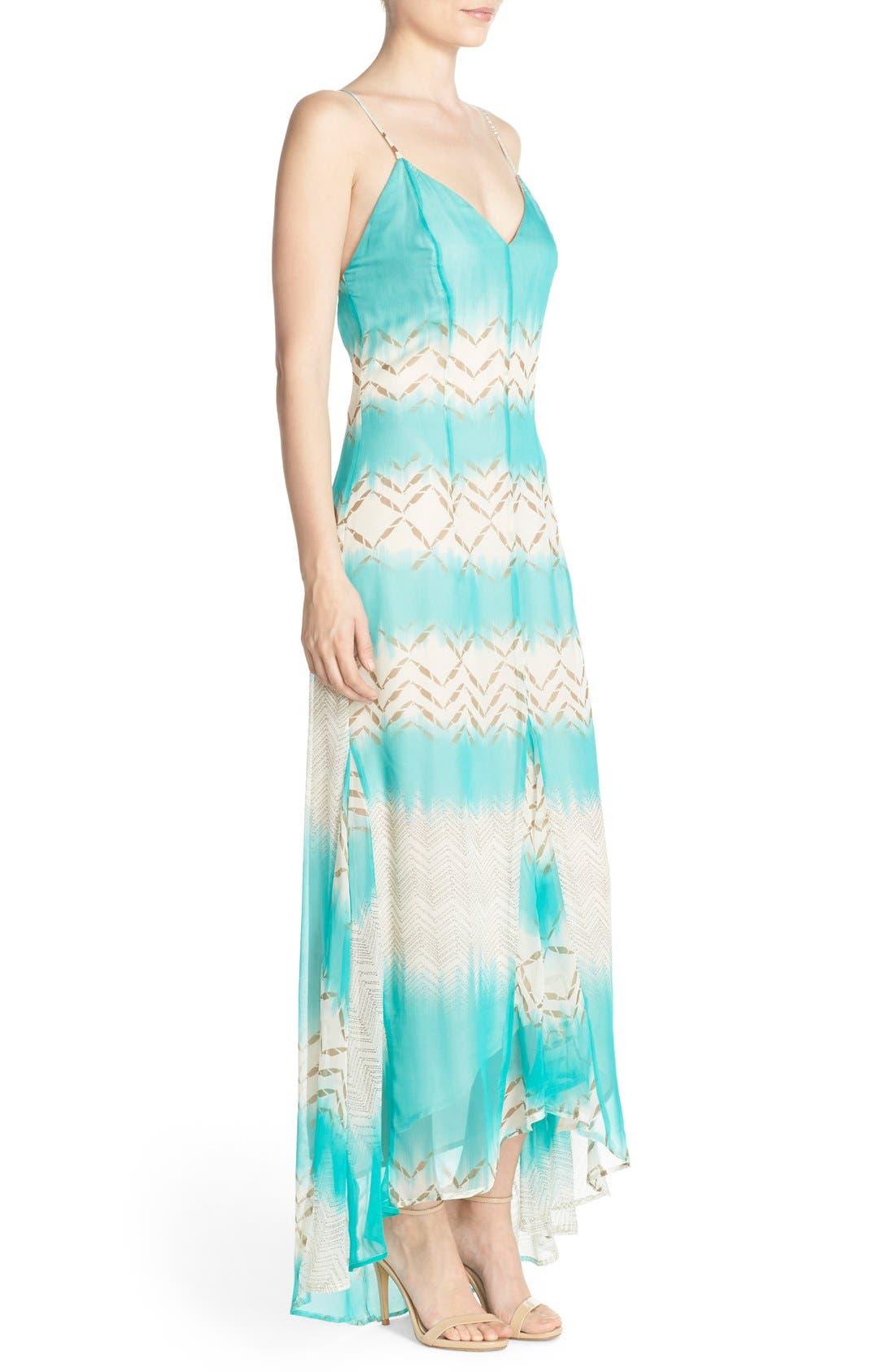 Alternate Image 3  - Charlie Jade Print Silk Chiffon Maxi Dress