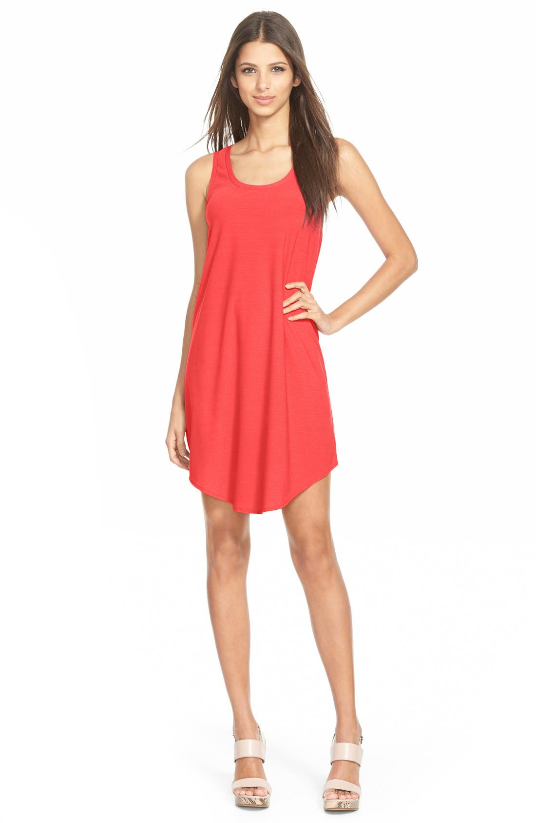 Tank Dress,                         Main,                         color, Red Cayenne
