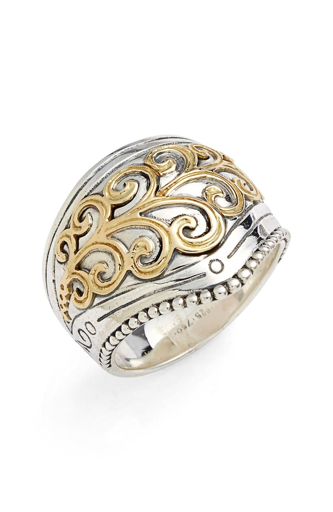 Konstantino 'Hebe' Swirl Etched Ring