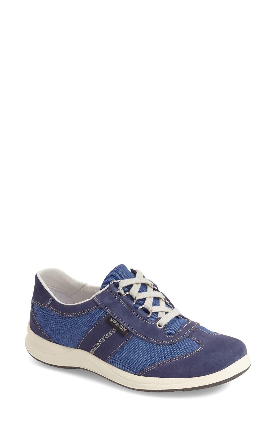 'Laser' Walking Shoe,                             Main thumbnail 1, color,                             Indigo Leather