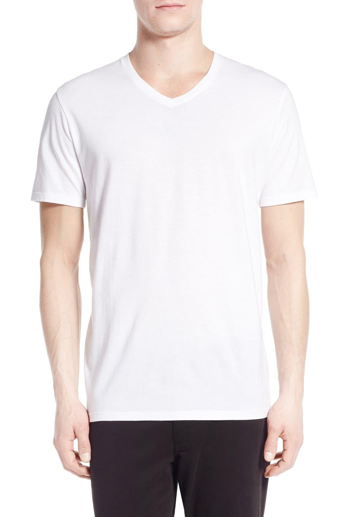 Main Image - Vince Pima Cotton V-Neck T-Shirt